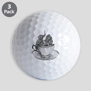 Teacup Elephants Golf Ball