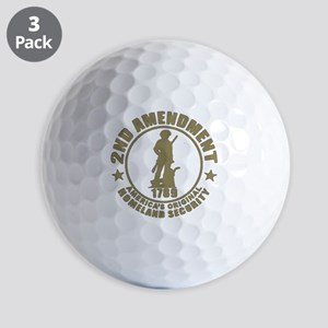 Minutemen, the Original Homesland Secur Golf Balls