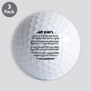 Partiture Golf Balls
