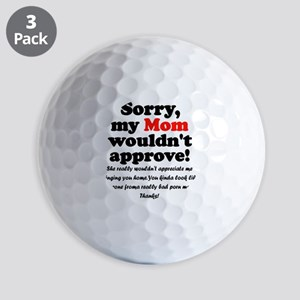 approvemom black Golf Balls