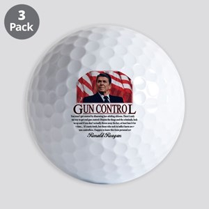 ronald reagan guncontrol Golf Balls