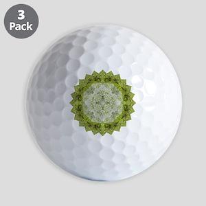 Green Man Yoga Mandala Shirt Golf Balls