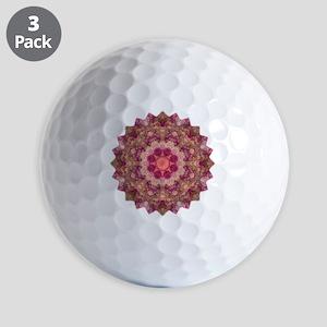 Rose Pink Yoga Mandala Shirt Golf Balls