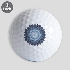 Blue Star Kachina Yoga Mandala Shirt Golf Balls