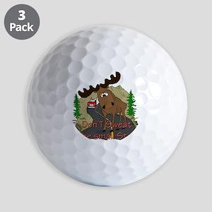 Moose fun Golf Balls