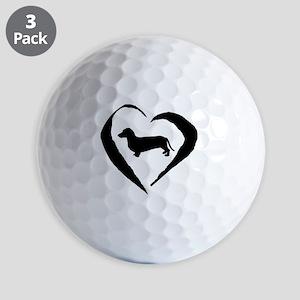 Wiener2 Heart Golf Balls