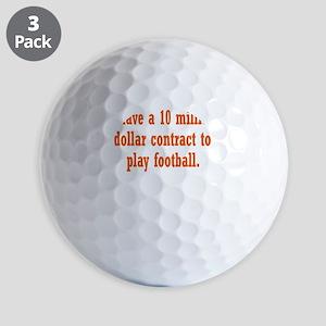 football-contract3 Golf Balls