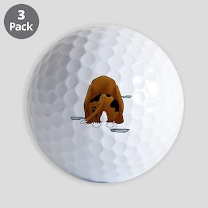 BassetDroolMirrorDark Golf Balls