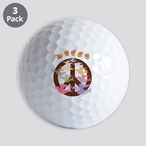 Peace Symbol with Doves Golf Balls