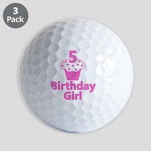 birthdaygirl_5 Golf Balls