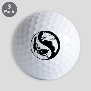 Yin-Yang Huskies Golf Balls