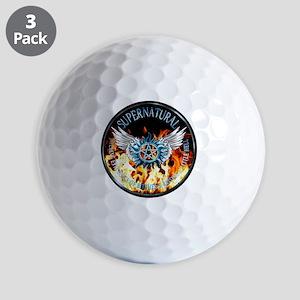 Supernatural  protection Symbal Flames  Golf Balls
