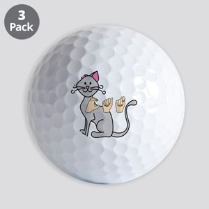CatPainted Golf Balls