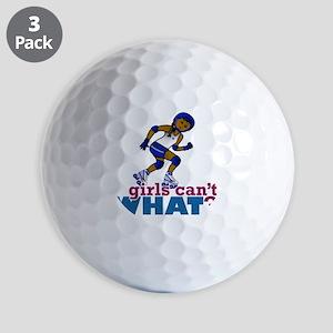 Blue Roller Derby Girl Golf Balls