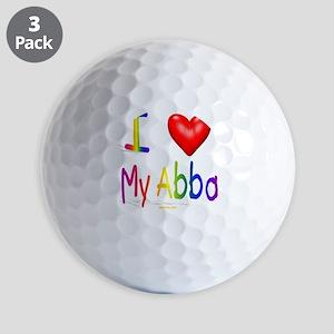 I Love My Abba flat Golf Balls