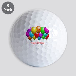 Happy Birthday Balloons Golf Balls