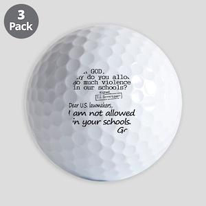 Dear God Golf Balls
