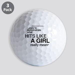 Hit Like a Girl Golf Balls