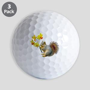 Squirrel Daffodils Golf Balls