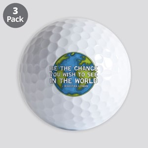 gandhi_earth_bethechange_dark Golf Balls