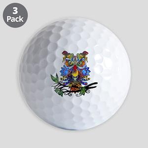 wild owl Golf Ball