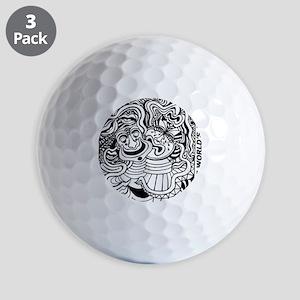 Theater Masks Golf Balls