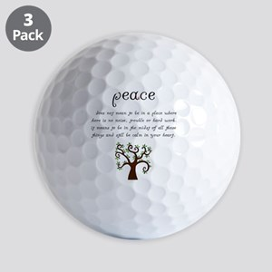 Peace Mantra Golf Balls