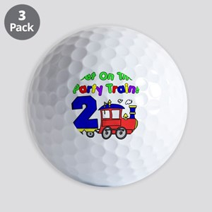 Get On The Party Train 2 Year Old Golf Balls