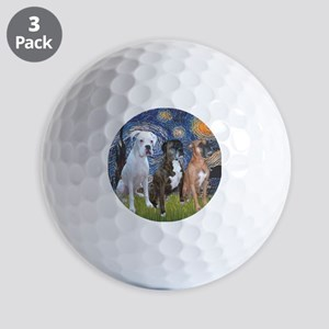 T-Starry Night - 3 Boxers Golf Balls