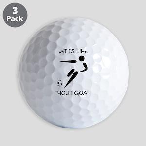 Soccer Goals Black Golf Balls
