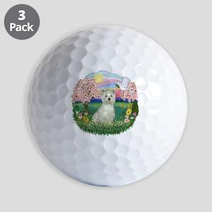 Blossoms-Westie 8 Golf Balls