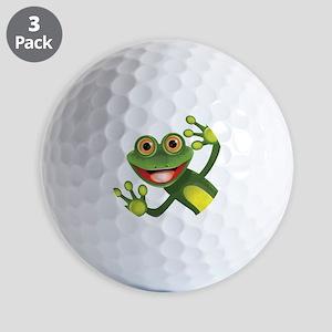 Happy Green Frog Golf Ball