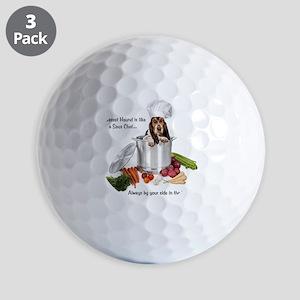 Basset Hound Sous Chef Golf Balls