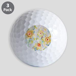 Watercolor Daffodils Pattern Golf Balls