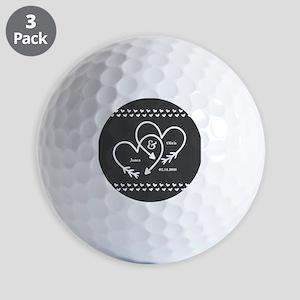 Mr. and Mrs. Wedding Customizable Gray Golf Balls
