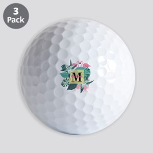 Personalized Flamingo Monogrammed Golf Balls