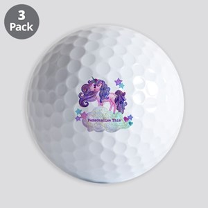 Cute Personalized Unicorn Golf Ball