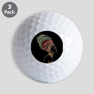 African Woman Golf Balls