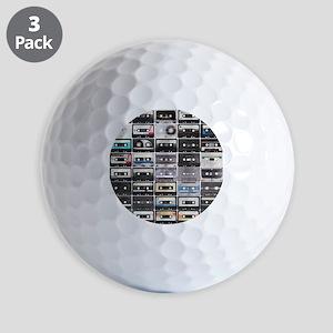 Cassette Tapes Golf Ball