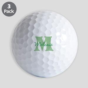 CUSTOM Green Monogram Golf Ball