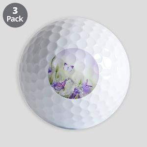Flowers and Butterflies Golf Ball