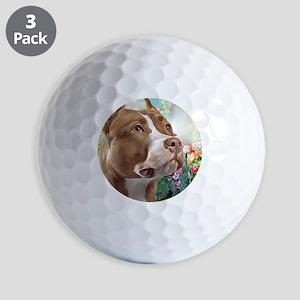 Pit Bull Painting Golf Ball