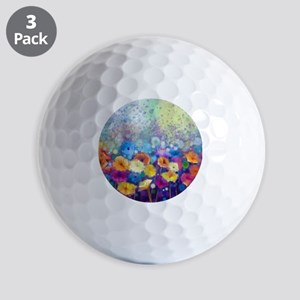 Floral Painting Golf Balls