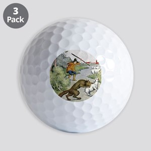 The Boy Who Cried Wolf Golf Ball