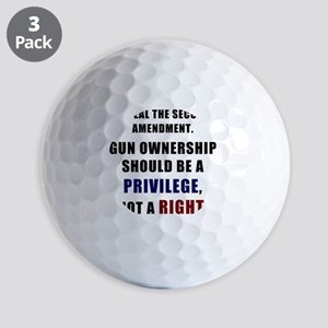Repeal the second amendment 2 Golf Balls