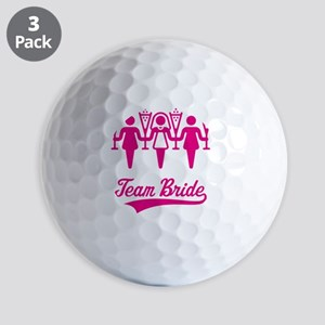 Team Bride (Bachelorette Party), magent Golf Balls
