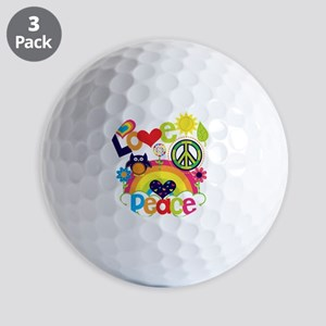 Love and Peace Golf Balls