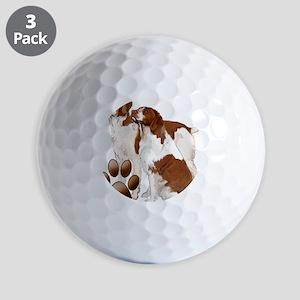 brittany spaniels2 Golf Balls