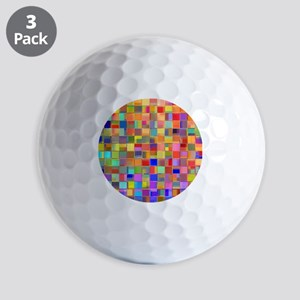 Color Mosaic Golf Balls