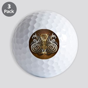 Norse Valknut Dragons Golf Balls